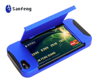 Wide Potential Market fovorite stylish stand cell phone case for Apple iphone5 with card holder