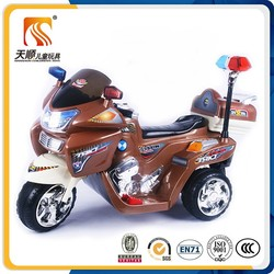 Tianshun high quality safe three wheels charging kids electric motorcycle