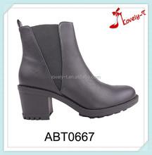Moda senhora de salto ankle boots de salto de dança de botas de salto alto com elástico