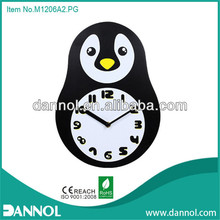 guangzhou watch mdf wall clock/kids souvenirs/penguen duvar saatleri