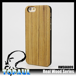 Hot sell!!Bamboo, wood, black walnut, sapele Wood Cover Case For Iphone 6