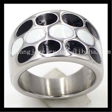 r50012 fashion jewelry stainless steel dot ring