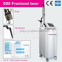 Ultra Pulse Co2 Fractional Laser Skin Tightening Machine 100um - 2000um Spot Size
