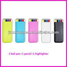 ball pen pencil highlighter set