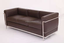 china factory wholesale modern classic le corbusier sofa 1 2 3 seater brown aniline leather sofa reproduction
