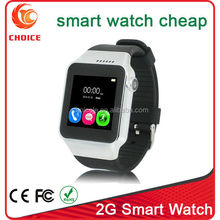 New mtk 6250 unlocked smart watch mobile phone with touch screen calculator