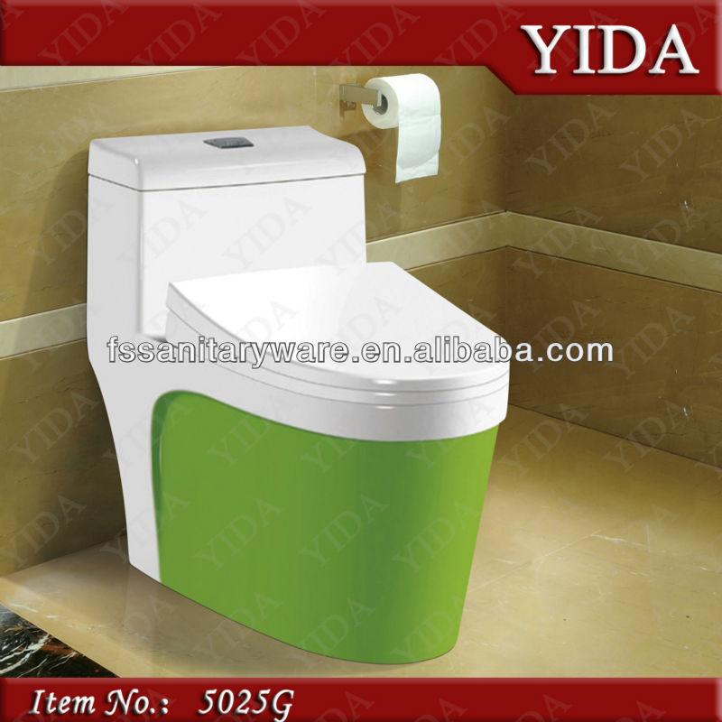Groene kleur een stuk toilet kleur wc pot hotel toilet bow colorful sanitair toiletten product - Kleur wc ...