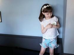 phelfish summer new 13755 baby lace t-shirts custom wholesale t-shirt girl t-shirts children clothing kids clothes 13755