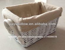 blanco natural de sauce cestas de regalo