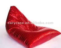 Red Lame Teardrop Bean Bag Chair