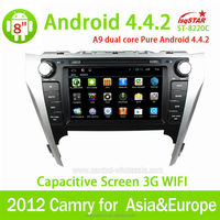 TOYOTA Camry 2012 Touch screen Car dvd player with gps,bluetooth,radio,tv,ipod