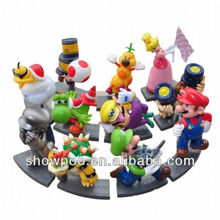 New Style Mini Toy Figure Super Mario Action Figure 11pcs a set Wholesale Fashion Anime Cos Super Mario Figure