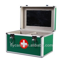 high capacity aluminum first aid kit with tray and various color