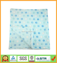 Blue Spot Super Soft Plush Fleece Baby Blanket