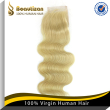 Authentic virgin human no shedding silk lace closures