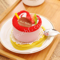 novel love heart shape gift cake towel