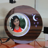 LED suspending in the air magnetic levitation photo frame electronic gift items for men