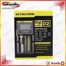 High quality authentic universal external laptop battery charger for 18650/18530 3.7v Nitecore D4 I2 I4 D2 charger
