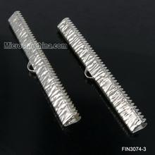 50mm New design iron platinum wrinkle ribbone ends