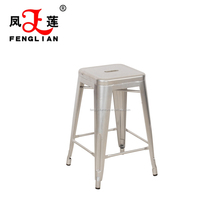 modern style metal dining room chair. wholesale restaurant stackable metal stool, bar stool