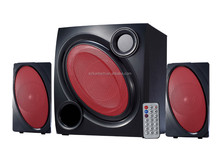 new design 2.1 multimedia speaker with USB SD port FM and remote