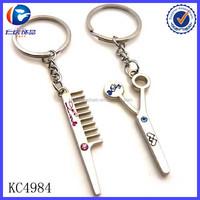 Latest aladdin trade barber tools Metal Key Ring custom keychain Promotion Gift