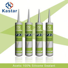 Acetoxy,waterproof sealant for steel,100% RTV Silicone