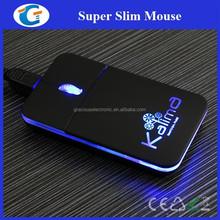 Logo Branded Computer USB Optical LED Light Up Wired Slim Mouse