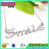 2015 The Latest fashion necklace, Custom Statement necklace ,silver chain Pendant necklace jewelry wholesale