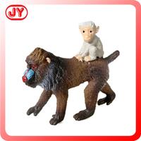 Lifelike Hand painted Monkey Model with baby