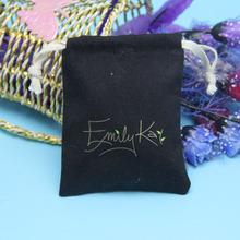 Quality antique black cotton drawstring bag from Shenzhen Yuanjie