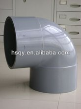High pressure PVC plastic 90 degree elbows PN16