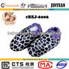 Purple printed leather shoes soft sole baby leopard print shoes