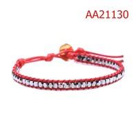 Lady's Jewelry Fashion Bracelet Simple Style Handmade Leather Wrap Bracelet