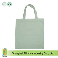 Plain white cotton canvas cloth tote shopping bag ALD1218