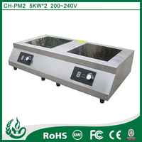 Circuit board induction cooker with two head