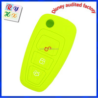 Car Dealer Promotional 3 Buttons Silicone Car Key Cover