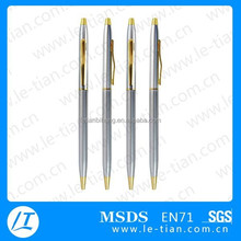 MP-247 Cheap Ultrafine Slim Metal Black Rotary Promotion Pen