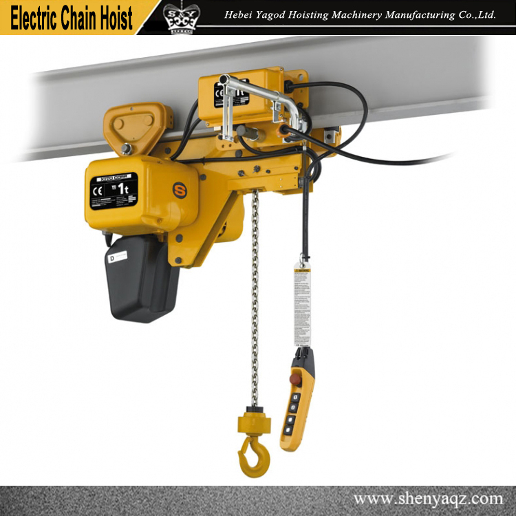 1ton Kito Type Electric Chain Hoist With Motorized Trolley