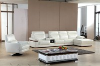 Leisure hot sale sectional leather sofa with drawer