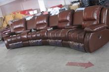 Recliner Sofa Seat/Half Leather Recliner Sofa Set/Recliner Sofa In Purple LS601