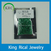 Nano Emerald Gems 1.8mm Round Brilliant Cut Semi-Precious stone