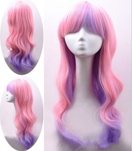 For white women synthetic new arrival pink high lighting girls wig