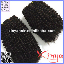 Wholesale afro tight curly hair weaving for black kinky curl remi velvet hair weave