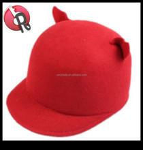 new style ladies fashion wool felt hat bear cat ear,Ox horn hat