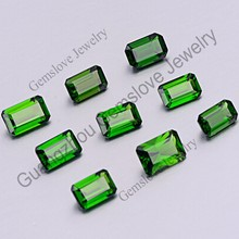 Octagon Shaped Russia Diopside Beautiful Good Clean Quality Natural Chrome Diopside