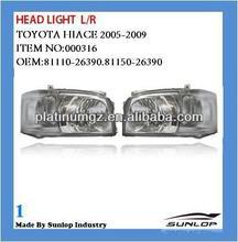 toyota hiace parts #000316 Hiace Head light head lamps for hiace van,commuter,KDH200 81150-26390 81110-26390