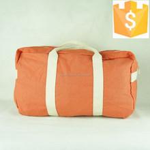 New model fancy yellow pattern unisex travel cotton canvas duffel bag 2015