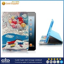 Hot sales high quality customized fashion designs sparkle PU Cover for iPad mini