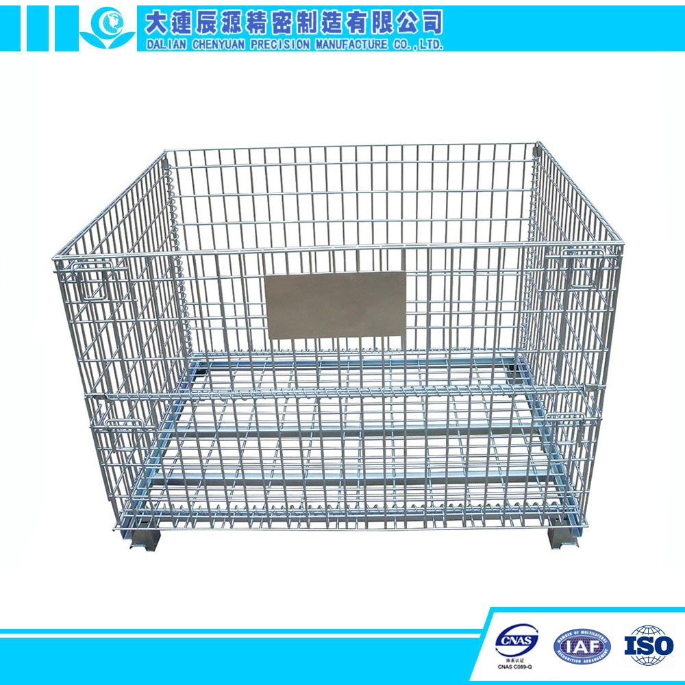 Stackable Foldable Wire Mesh Pallet Cage Metal Bin Storage Container ...